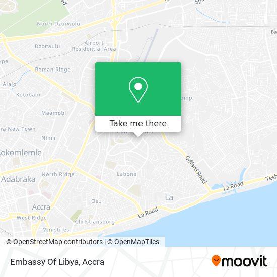 Embassy Of Libya map