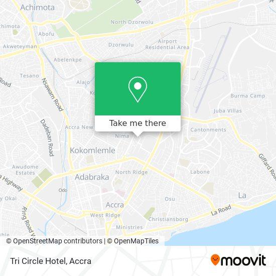 Tri Circle Hotel map