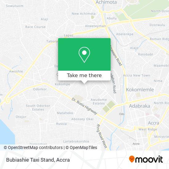 Bubiashie Taxi Stand map