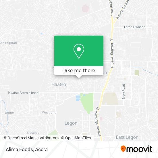 Alima Foods map