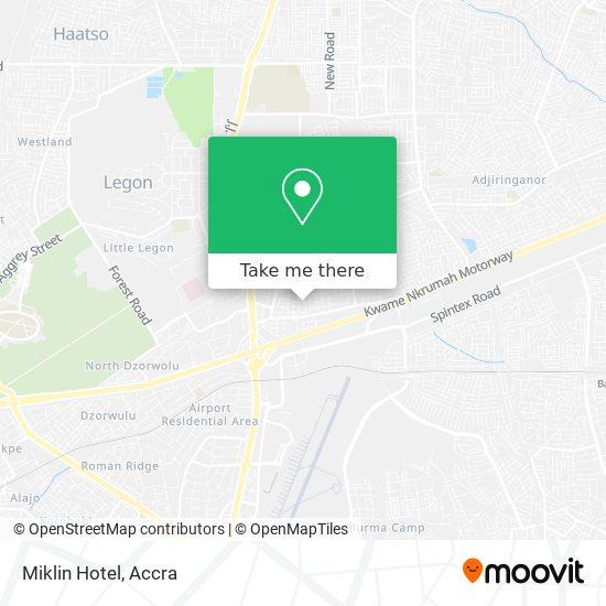 Miklin Hotel map