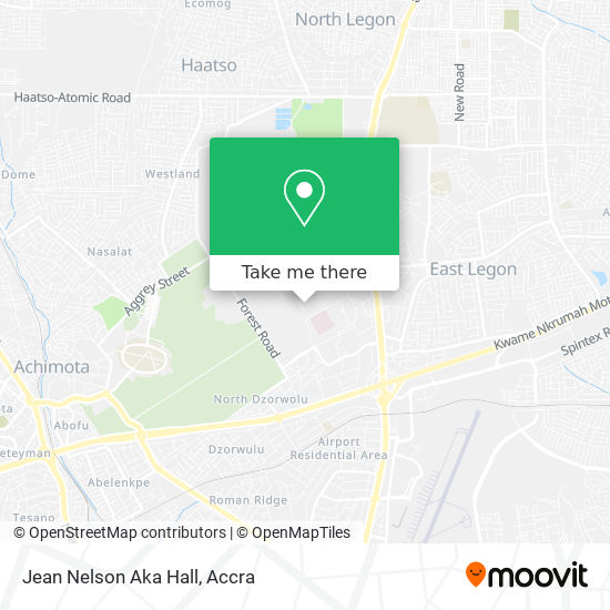Jean Nelson Aka Hall map