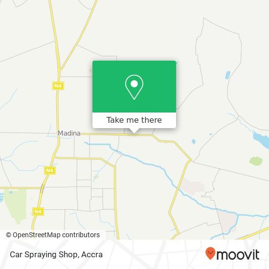Car Spraying Shop map