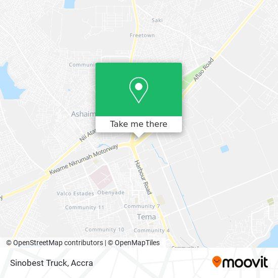 Sinobest Truck map