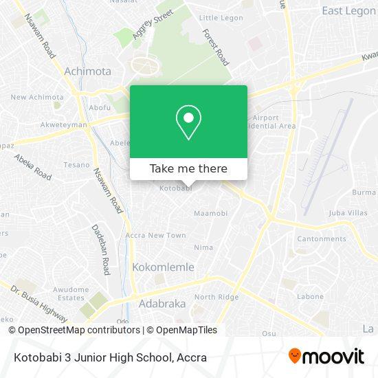 Kotobabi 3 Junior High School map