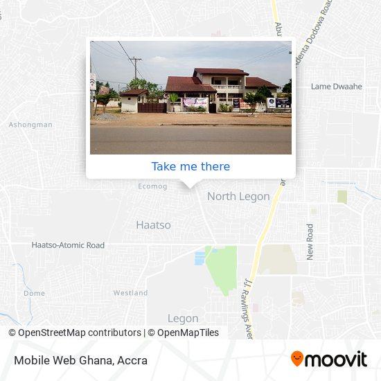 Mobile Web Ghana map