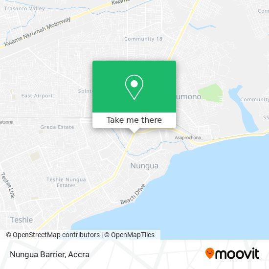 Nungua Barrier map