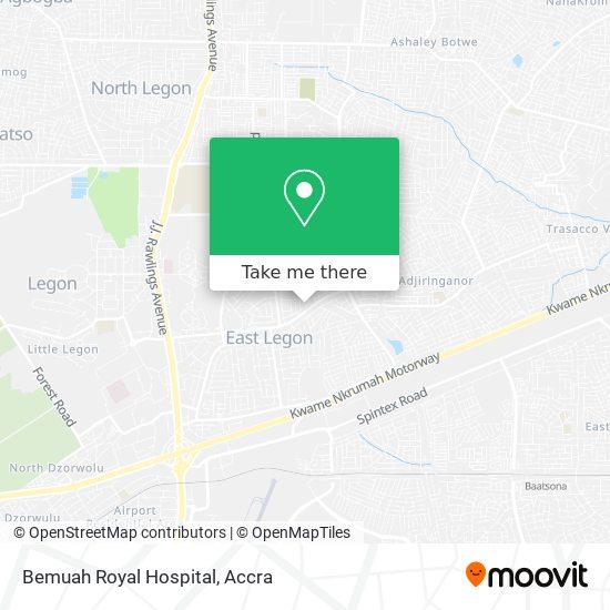 Bemuah Royal Hospital map