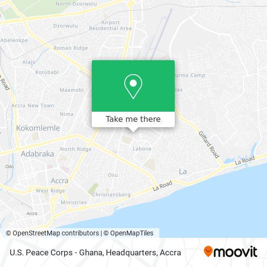 U.S. Peace Corps - Ghana, Headquarters map