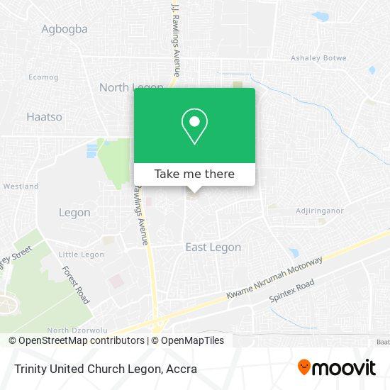 Trinity United Church Legon map