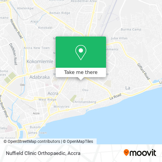 Nuffield Clinic Orthopaedic map