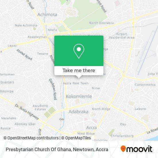 Presbytarian Church Of Ghana, Newtown map