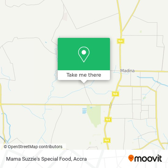 Mama Suzzie's Special Food map