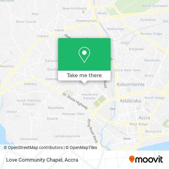 Love Community Chapel (Goshen) map