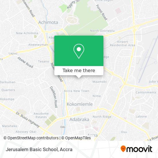 Jerusalem Basic School map