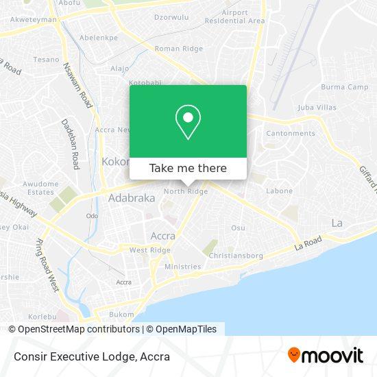 Consir Executive Lodge map