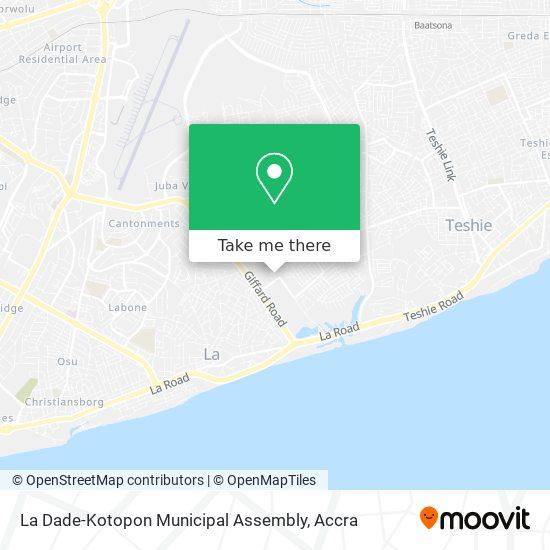 La Dade-Kotopon Municipal Assembly map