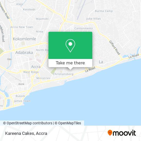 Kareena Cakes map