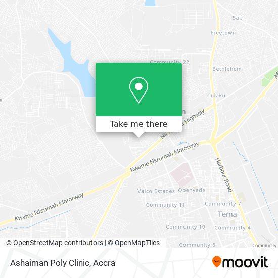 Ashaiman Poly Clinic map