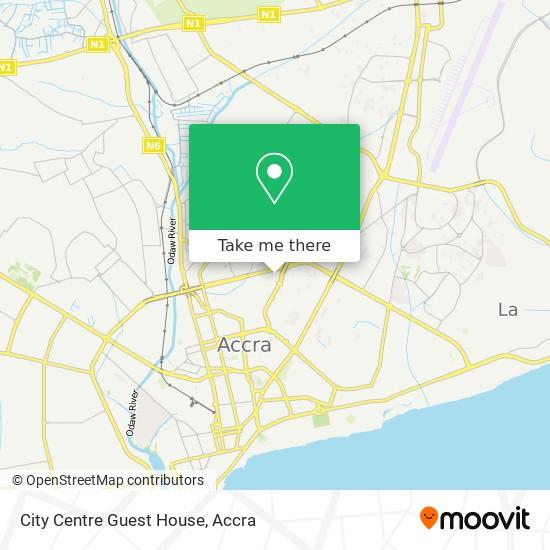 City Centre Guest House map