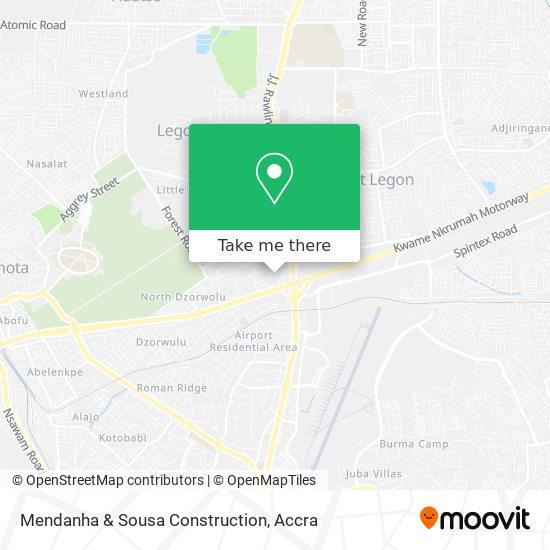 Mendanha & Sousa Construction map