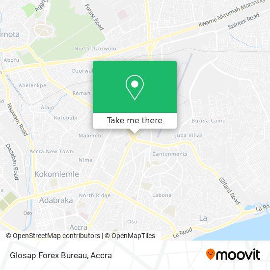 Glosap Forex Bureau map