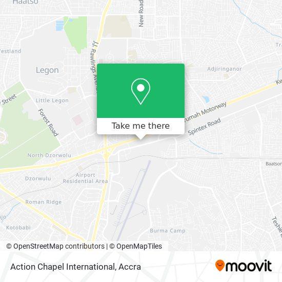 Action Chapel International map