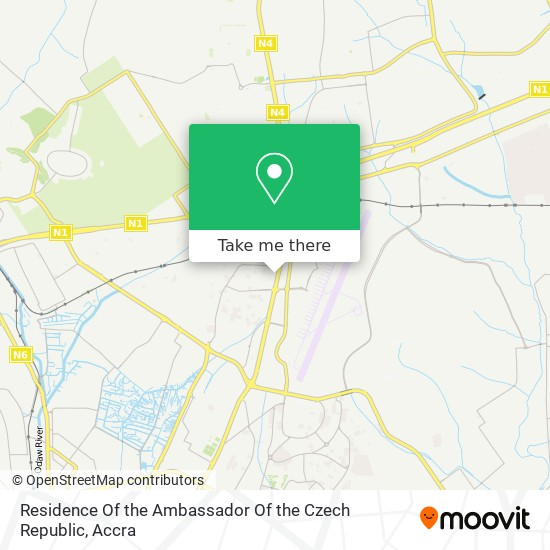 Residence Of The Ambassador Of The Czech Republic map