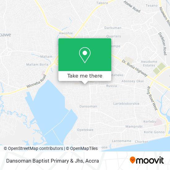 Dansoman Baptist Primary & Jhs map