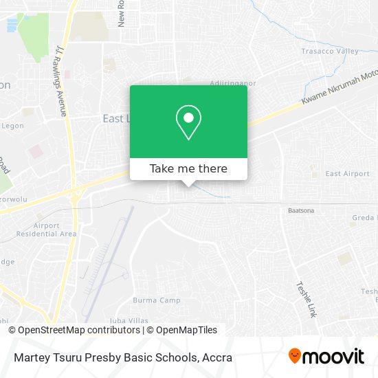 Martey Tsuru Presby Basic Schools map