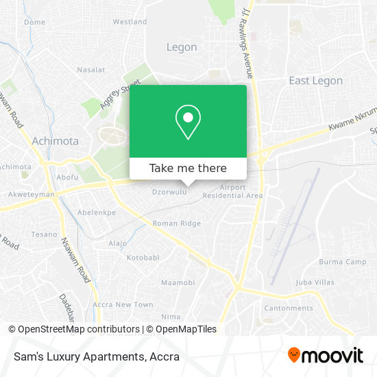 Sam's Luxury Apartments map