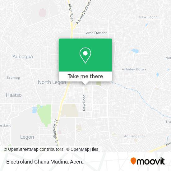 Electroland Ghana Madina map