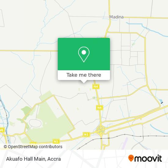 Akuafo Hall Main map