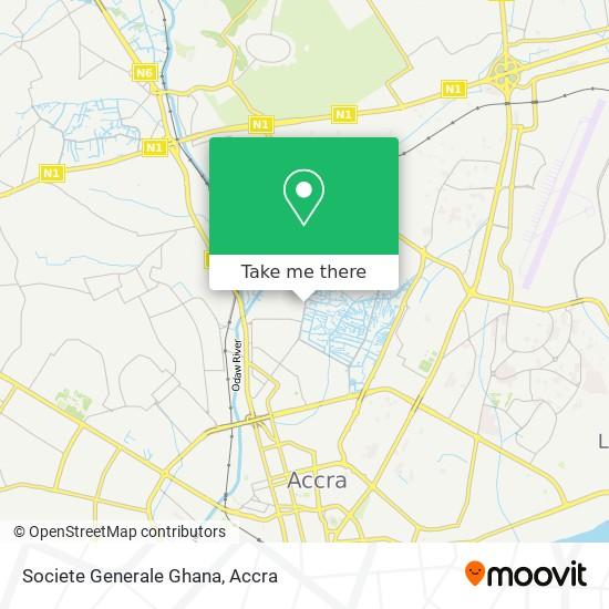 Societe Generale Ghana map