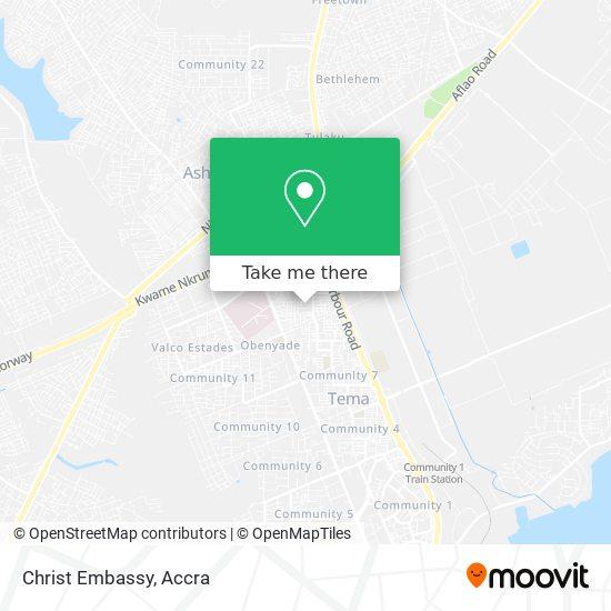 Christ Embassy map