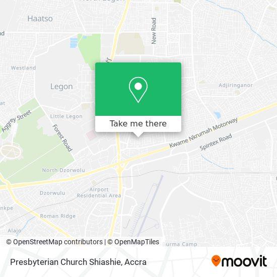 Presbyterian Church Shiashie map