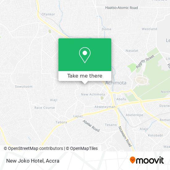 Hotel De Joko map