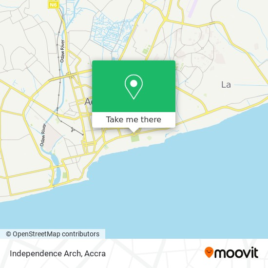 Independence Arch map