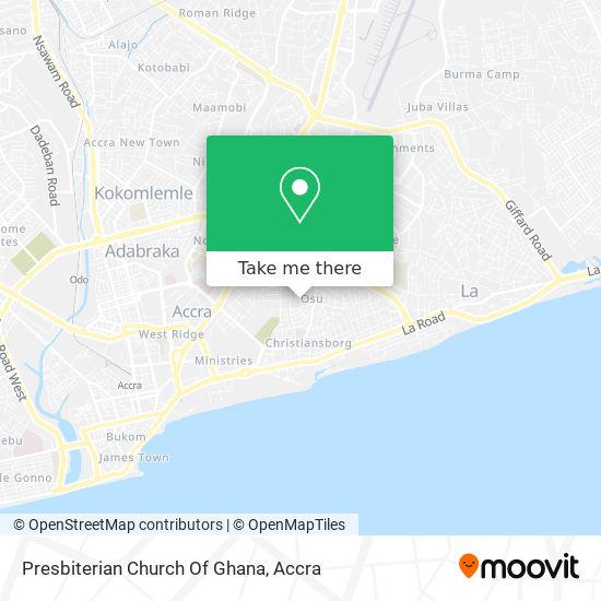 Presbiterian Church Of Ghana map