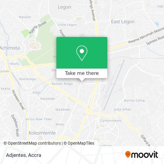 Adjentes map