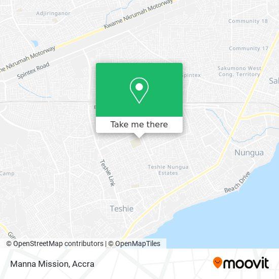 Manna Mission map