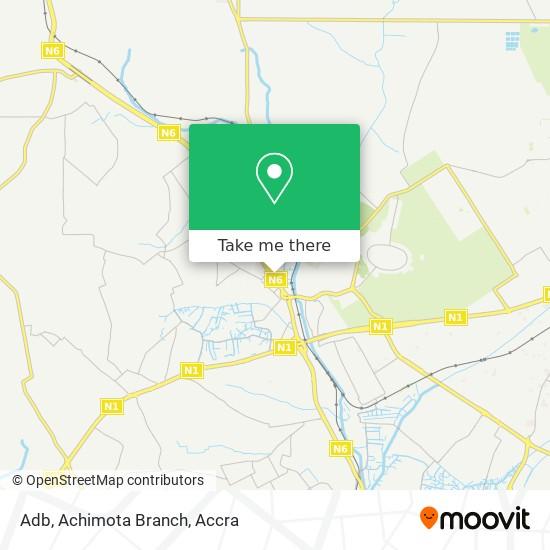 Adb, Achimota Branch map