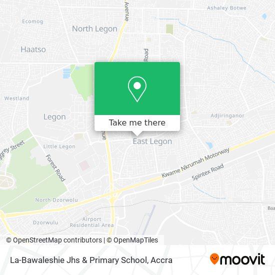 La-Bawaleshie Jhs & Primary School map