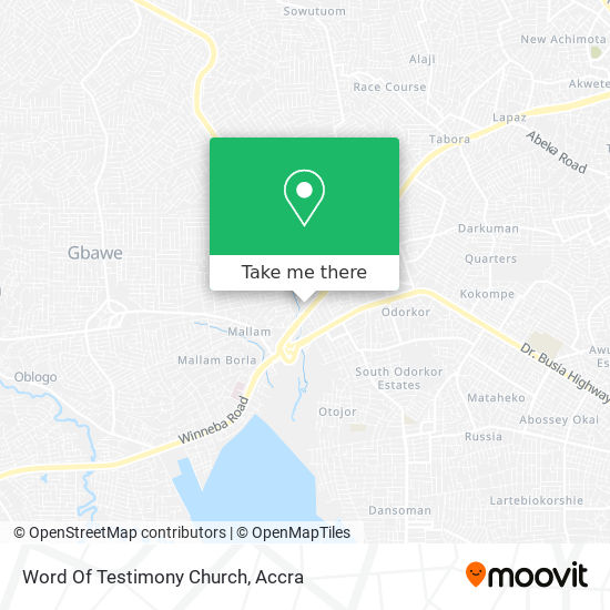 Word Of Testimony Church map