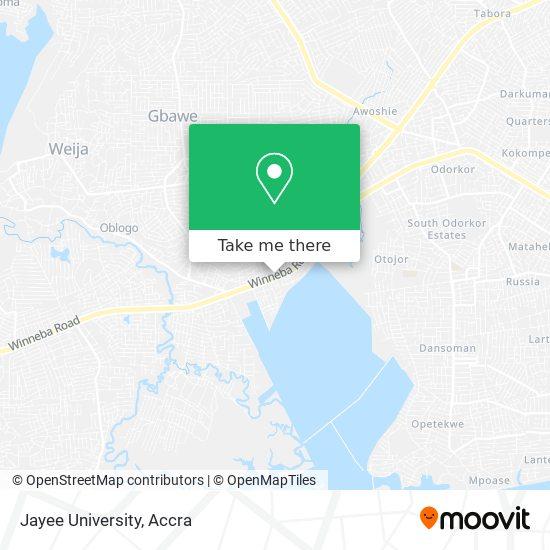 Jayee University map