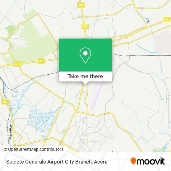 Societe Generale Airport City Branch map