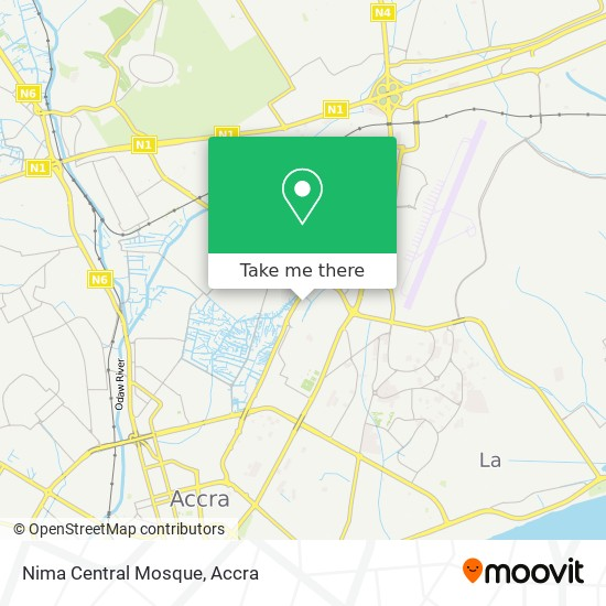 Nima Central Mosque map