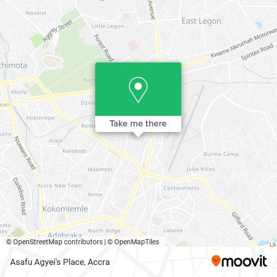 Asafu Agyei's Place map