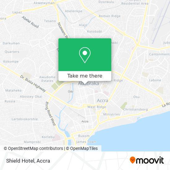 Shield Hotel map