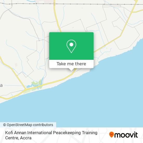 Kofi Annan International Peacekeeping Training Centre map